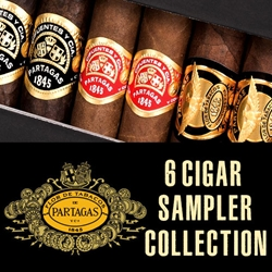 Partagas 6 Cigar Sampler Collection with Lighter