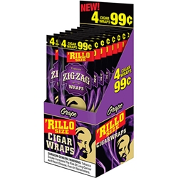 Zig-Zag Rillo Size Cigar Wraps Grape