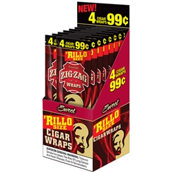 Zig-Zag Rillo Size Cigar Wraps Sweet