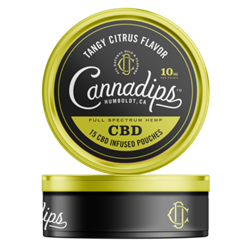 Cannadips CBD Tangy Citrus Pouches